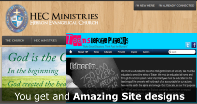 You get an Amazing Site Design